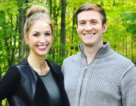 The You-Tuber Rachel Cooper, aka Rachhloves pictured with her fiance, turned husband Chris.