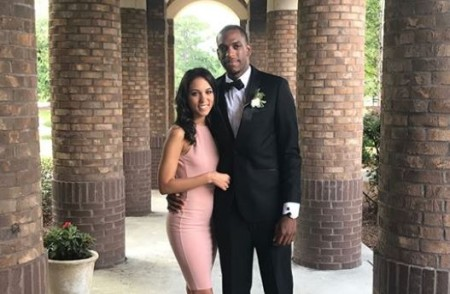 Khris Middleton and his girlfriend, Samantha.