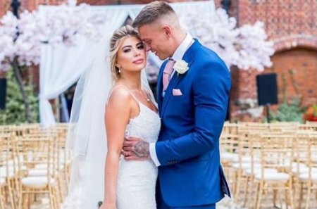 Alex with his wife, Olivia Buckland.