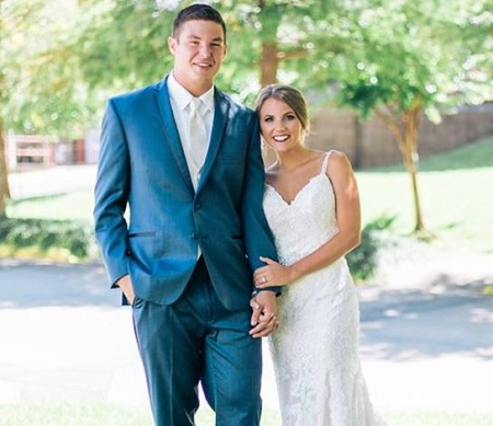 Haleigh Hughes and Nick Mullens tied the wedding knot on July 15, 2017.