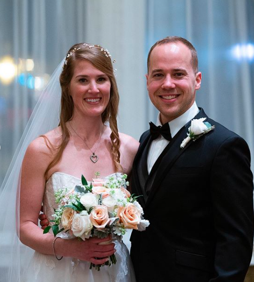 Kenneth Schmidt with his beautiful wife, Jessie, on their wedding day on January 29, 2020.