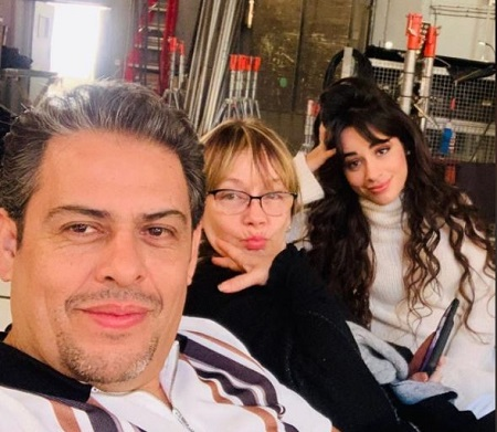 Sinuhe Estrabao (middle) with her husband Alejandro Cabello and celebrity daughter Camila Cabello.