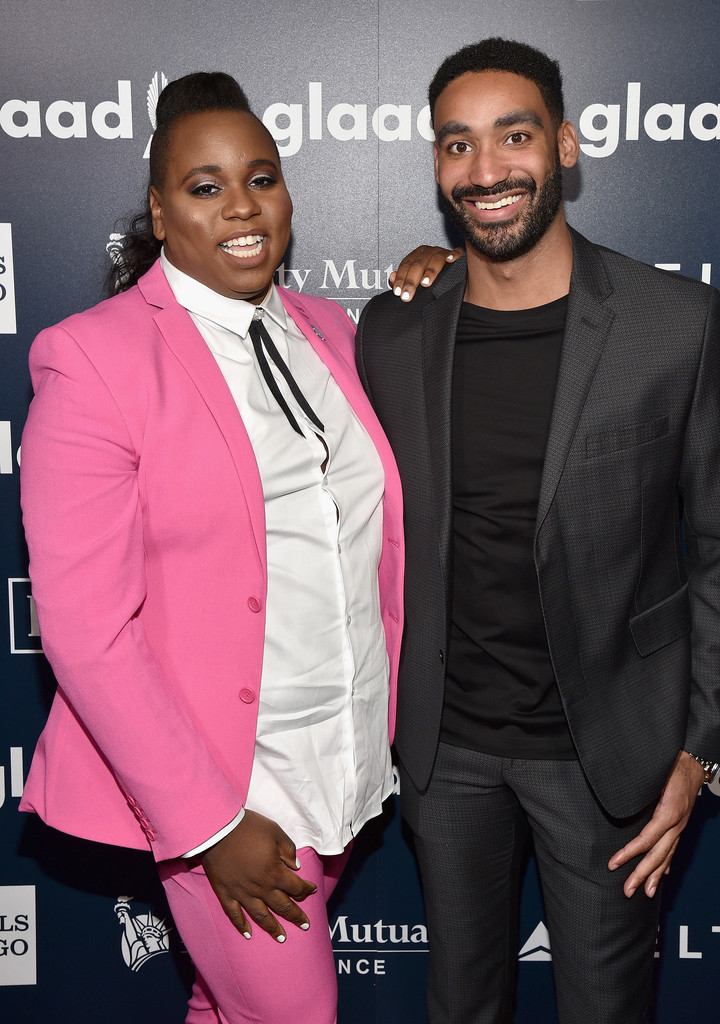 Zeke Thomas with his long time partner, Alex Newell, attending an event show.