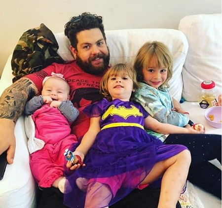 Lisa Stelly's Ex-Husband, Jack Osbourne and Their Daughters, Pearl Osbourne, Andy Osbourne and Minnie Osbourne