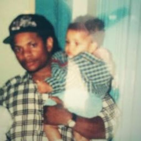 Dominick Wright and his father Eazy-E