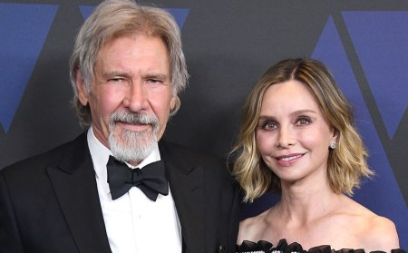 Harrison and his third wife, Calista Flockhart.
