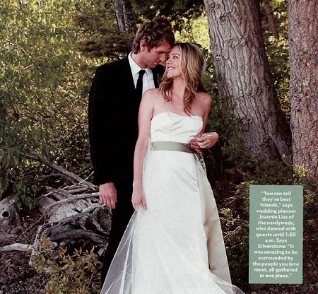 The Wedding Photo Of Alicia Silverstone and Christopher Jarecki
