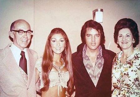 Linda and Elvis were never married but are together in this picture