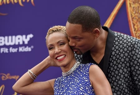 Will Smith with his wife Jada Smith at an award show