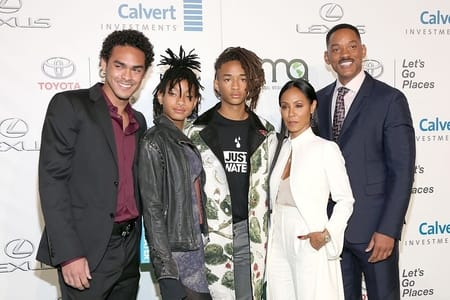 Will Smith along with his family members at an event