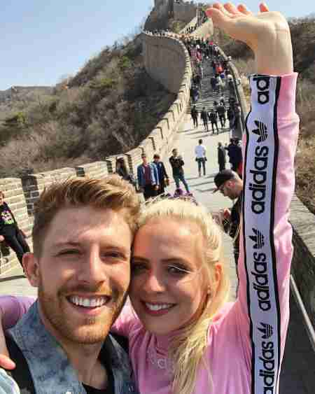James Benrud and Madilyn Bailey toured on the Great Wall of Chine