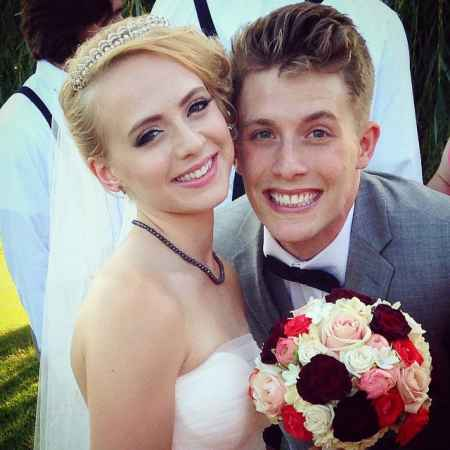 James Benrud and Madilyn Bailey at the time of wedding ceremony