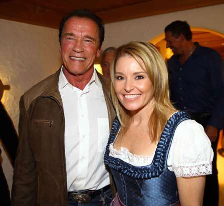 Arnold and his present girlfriend, Heather