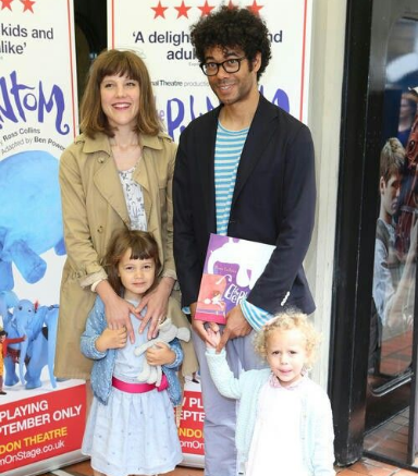 Richard Ayoade And His Wife And His Children ,Esmé Bibi  and Ida