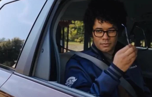 Richard Ayoade In His Luxury Ride
