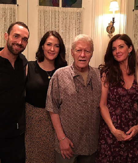 Emily Trebek with her brother and parents