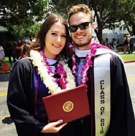 Emily Trebek's posed for a photo with her boyfriend during an graduation