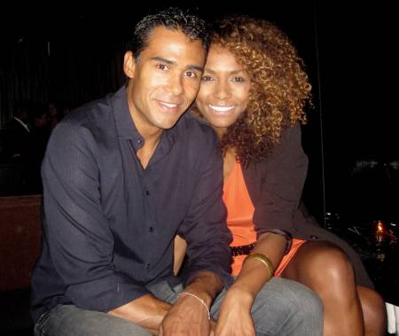 Angel Bismark Curiel's partner, Janet Mock with her ex-husband, Aaron Tredwell. Know more about Angel Bismark Curiel's relationship with girlfriend, Janet Mock.