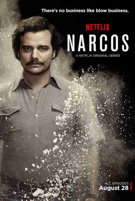 Wagner Moura in the cover photo of Narcos
