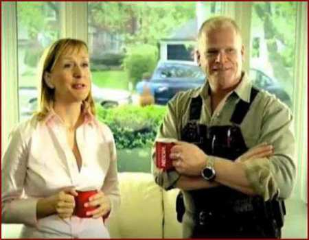 Mike Holmes with his former wife, Alexandra Lorex. Know more about Mike Holmes' current relationship status.