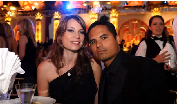 Michael Peña and His Wife Brie Shaffer