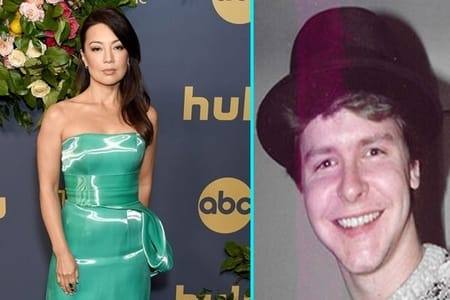Ming Na wen and her ex-husband Kirk Aanes in a photo collage