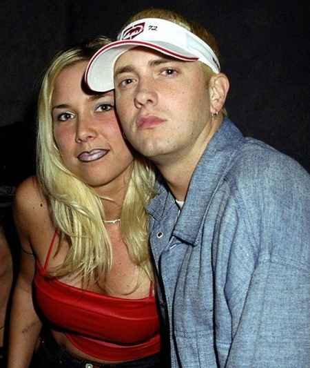 Kimberly Anne Scott with her ex-husband, Eminem