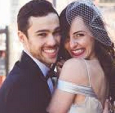 Emily Cannon And Her Husband Max Schneider At Their Wedding Ceremony