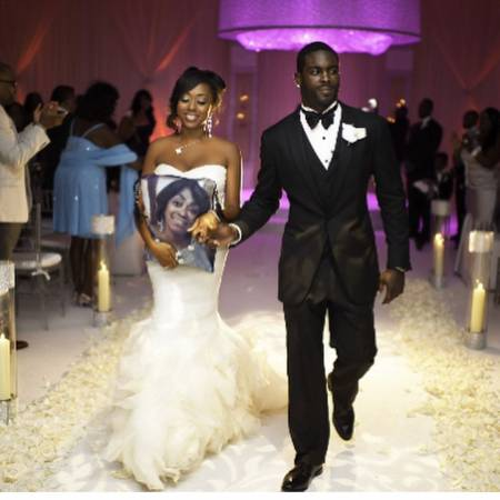 Kijafa Vick on the day of her wedding with her husband, Michael Vick Source: Instagram @Kijafa