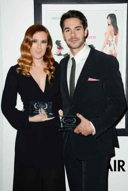 Rumer Willis and her first former boyfriend, Rafi Gavron holding their awards. Let's explore more about Rumer's dating history?
