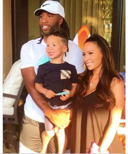 Larry Fitzgerald with his former girlfriend, Melissa Blakesley with their son, Apollo Fitzgerald. Know more about Larry's current relationship status?