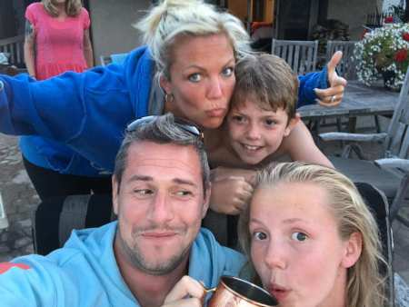 Louise Anstead with her husband, Ant Anstead spending quality time with their children. Do you know Louise and Ant stayed married for 12 years.