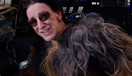 Peter Mayhew as Chewbacca in Star Wars 7