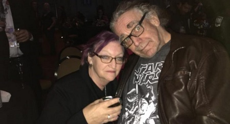 Angelique Mayhew with her late husband, Peter Mayhew