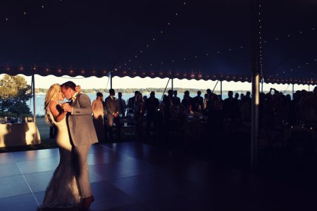 The newly-wedded pair, Katrina Sloane and Brad Marchand dancing in their wedding ceremony. Check out what's going in their marital life.