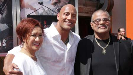 Rocky Johnson and his family