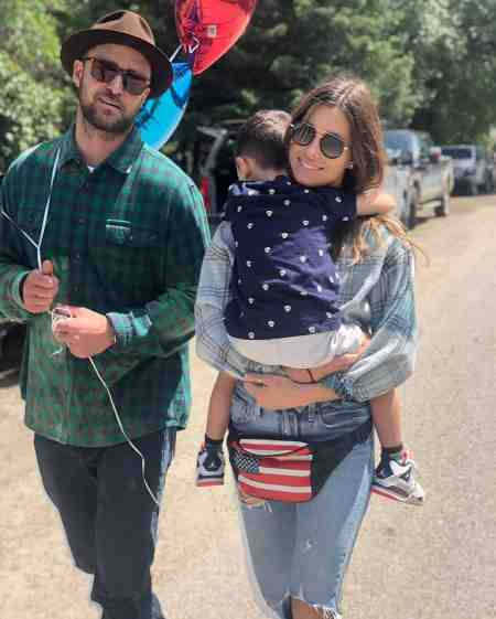 Alisha Wainwright's co-star, Justin Timberlake with his wife, Jessica Biel and their son, Silas Timberlake. Want to know more about Alisha's current relationship status?