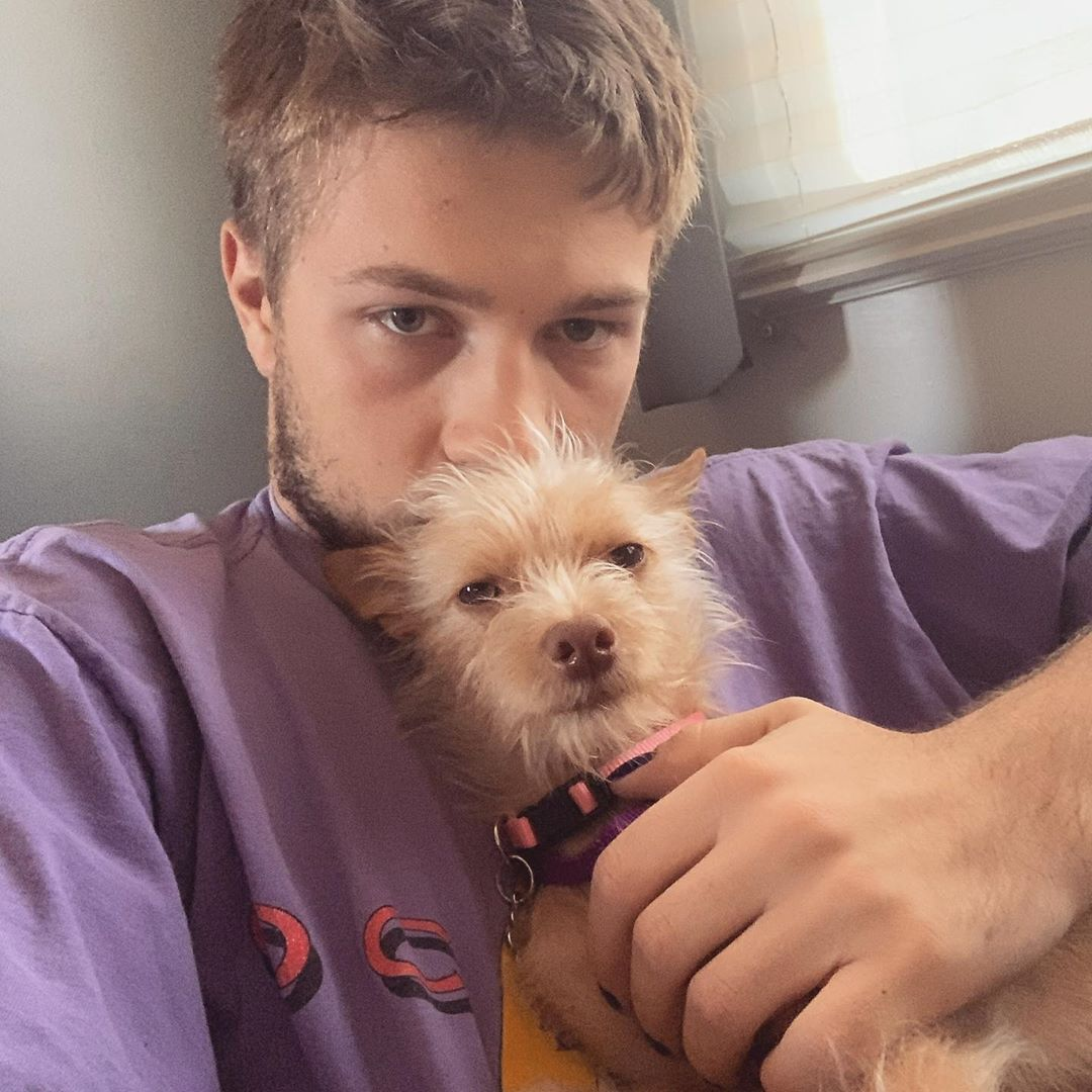 Connor and his pet dog