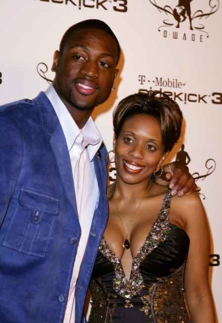 Siohvaughn Funches along with her former husband, Dwayne Wade