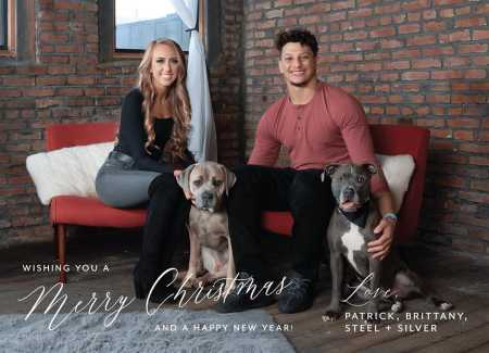 Patrick Mahomes and Brittany Matthews with their pet dogs, Steel and Silver. Know more about their dating life.