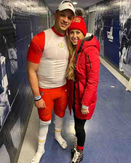 Patrick Mahomes with his girlfriend, Brittany Lynne. Is Patrick Mahomes Married?