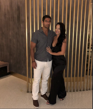Alexandra King at the restunrat with Jimmy Garoppolo