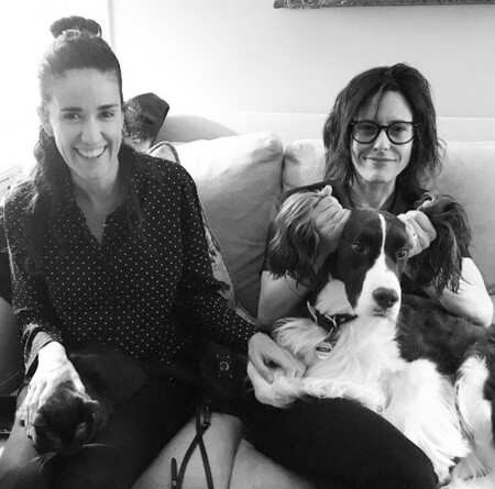 Katherine Moennig and her spouse, Ana Rezende with their pet dog, Mo. How is the married couple's same-sex marriage going on?
