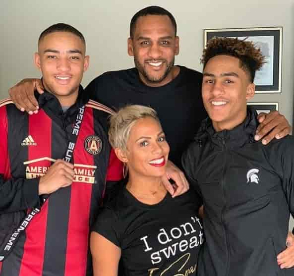 Millie Smith and Smith SMith with their sons