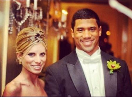 Russell wilson with former wife, Ashton