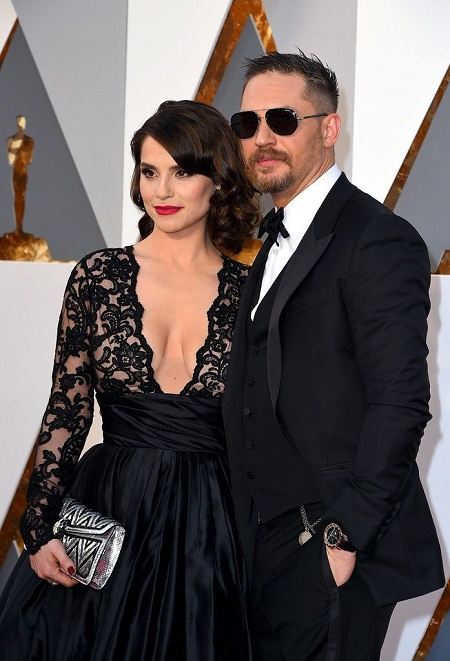 Charlotte Riley weds Tom Hardy in July 2014 at the 18th-century castle Chateau de Roussan