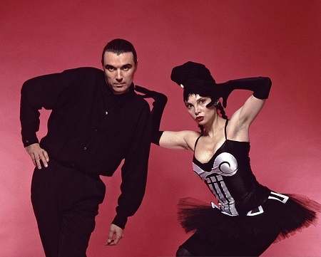 Toni Basil with her ex-boyfriend, David Byrne