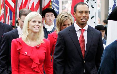 Golf Player, Tiger woods with his former wife