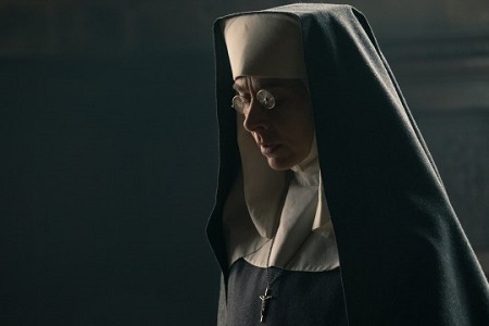 Kate Dickie as Mother Superior in the British crime series Peaky Blinders
