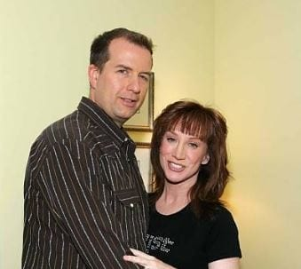 Kathy Griffin with his former husband Matt Moline posing for the phot